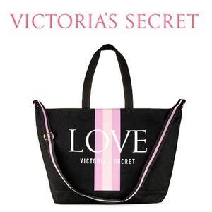 NWT Victoria Secret LOVE Weekender Tote